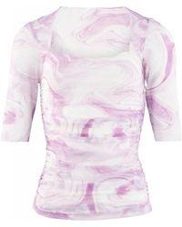 Ganni T2742 T-shirt - Roze