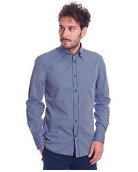 Trussardi Camicia A Quadretti Regular FIT Button Down - Blu