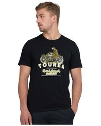 Barbour International Graphic Tee Tourer - Zwart