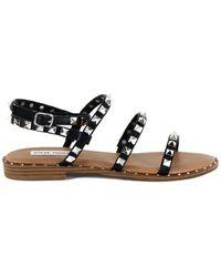 Steve Madden Flat Sandals With Studs For Women - Zwart