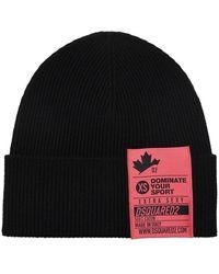 DSquared² Wool Hat - Zwart
