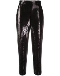 Karl Lagerfeld Sequined capri trousers - Noir