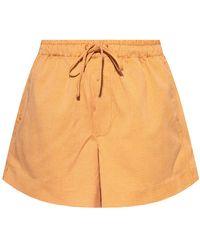 Holzweiler Checked shorts - Orange