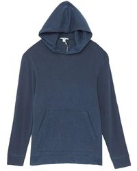 James Perse French Terry Hoodie - Blauw