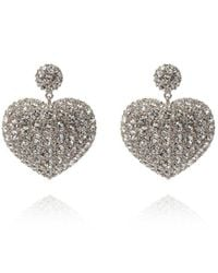 Balenciaga Susi Heart Earrings - Grijs
