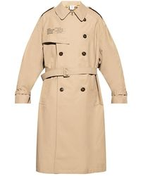 Vetements Printed trench coat - Neutre