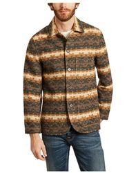 Universal Works Bakers Chore Urban Mex Woolen Patterned Jacket - Bruin