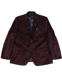 Lauren by Ralph Lauren Suit Long Blazer Faux-Suede - Rosso