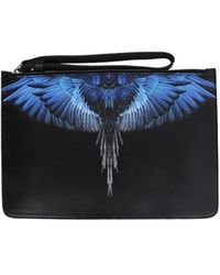 Marcelo Burlon Pouch with wings print - Negro