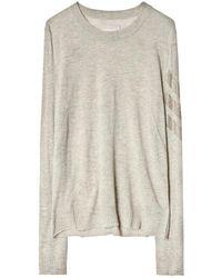 Zadig & Voltaire Cashmere Sweater Miss Arrow - Neutro