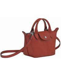 Longchamp Bag LE Pliage Cuir Marrón