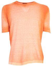 Avant Toi Round Neck Half Sleeves T-shirt - Oranje