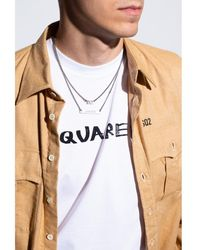DSquared² Necklace with logo - Grigio