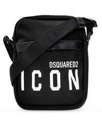 DSquared² Schoudertas Met Logo - Zwart