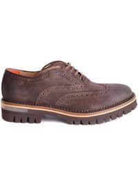 Brimarts Lace Ups Shoes - Marrone
