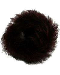 Dolce & Gabbana Fox Fur Winter Hat - Schwarz