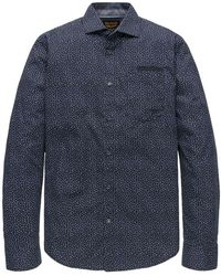 PME LEGEND Long Sleeve Shirt All-over Print - Blauw