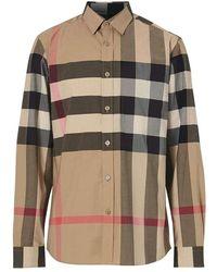 Burberry Shirts - Naturel