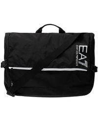 EA7 Shoulder Bag With Logo - Zwart