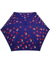 Moschino Ombrelli 8127-Superminif Umbrella - Blu