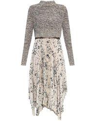 AllSaints Lerin 2-in-1 dress - Grigio