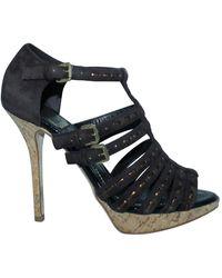 Dior Suede strappy sandals - Marrón