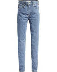 Levi's Mile High Super Skinny Jeans - Blauw