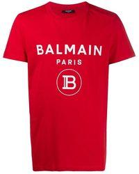 Chanel Vintage Logo Print T-Shirt - Rouge