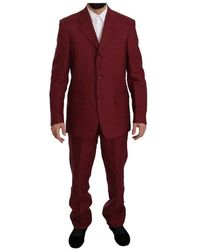 Romeo Gigli Two Piece 3 Button Solid Suit - Braun