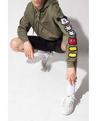 Iceberg - Hoodie with Mickey Mouse motif Verde - Lyst