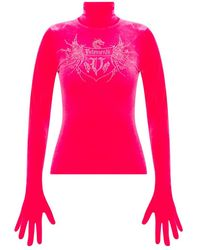 Vetements Top With Gloves - Roze