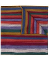 Etro Striped Scarf - Rood