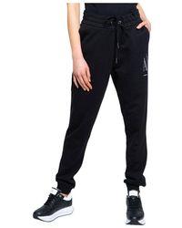 Armani Exchange Marchio sweatpants - Noir