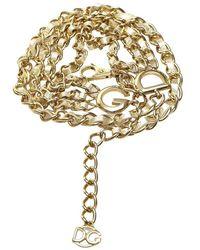 Dolce & Gabbana Gold-tone Chain Link Belt - Jaune