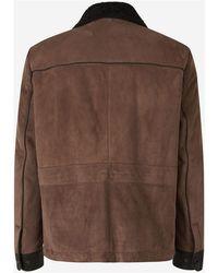 AJMONE Pockets Suede Jacket - Marron