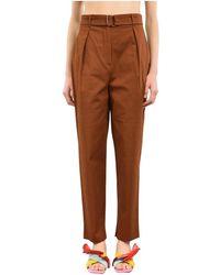 Max Mara Pantaloni con pinces modello tibet - Braun
