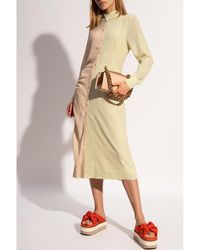 Holzweiler Checked dress - Jaune