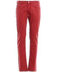 Jacob Cohen 5P Komfort Vintage - Rot