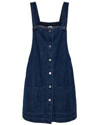 ONLY Denim Dress Button - Blau