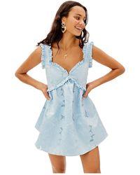 For Love & Lemons Evelyn Party Dress - Bleu