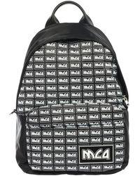 Alexander McQueen Men's Rucksack Backpack Travel Meatla Repeat - Zwart