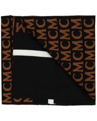 MCM Scarf With Logo - Zwart