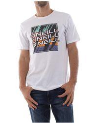 O'neill Sportswear - 9a2322 Filler T Shirt And Tank Men White - Lyst