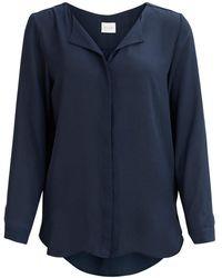 Vila Shirt féminin - Bleu