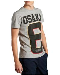 Superdry Camiseta Osaka - Grigio