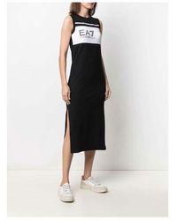 EA7 Sleeveless dress - Bianco