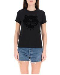 KENZO - Flock Tiger T-shirt - Lyst