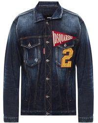 DSquared² Patched Denim Jacket - Blauw