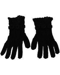 Dolce & Gabbana Knitted Mid Arm Gloves - Schwarz