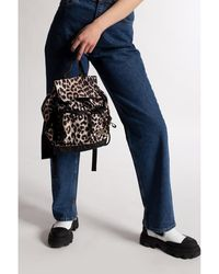 Ganni Backpack with logo Negro - Neutro